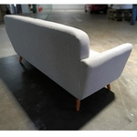 DEMSELLY 3 Seater Sofa in Light Grey Fabric