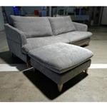 MODINA 3 Scandinavian Seater Sofa with Ottoman in GREY FABRIC