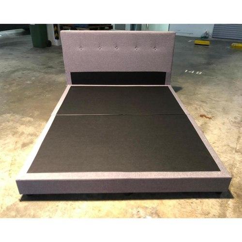 ERINA Grey Fabric Bed Frame in QUEEN