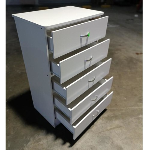 KEILEY Chest of Drawers in WHITE