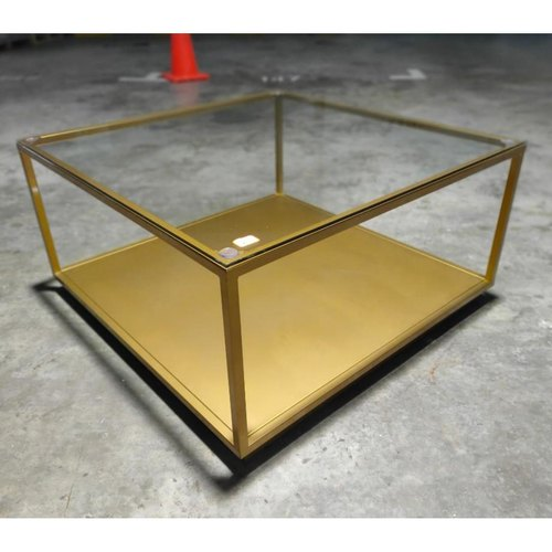 NADINE Modern Tempered Glass Coffee Table