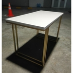 MAXIAM Contemporary Study Table with Gold Frame