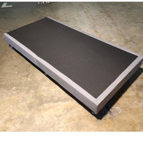 GASTEN II Fabric Single Bed frame in LIGHT GREY
