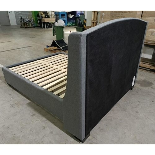 MAJEZTIK Queen Size Storage Bedframe in GREY FABRIC