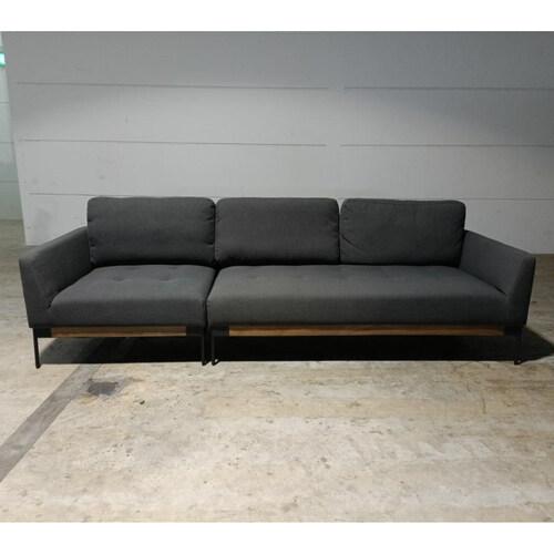HAWKE 4 Seater Sofa in STONE GREY FABRIC