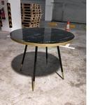 SKYE Dining Table in BLACK MARBLE PRINT