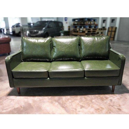 VALENTE 3 Seater Designer Sofa in EMERALD GREEN PU