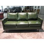 VALENTE 3 Seater Designer Sofa in EMERALD GREEN PU
