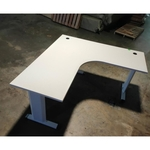 VAGNEON L-Shaped Office Desk in WHITE