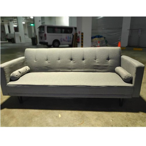 HANNA II Sofa Bed in STONE GREY FABRIC