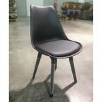 4 x VARIS Designer Scandi Dining Chair in BLACK SET