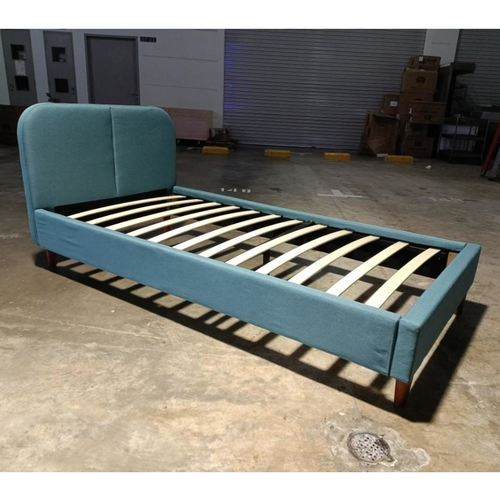 TIDUNA Single Bedframe in TEAL GREEN