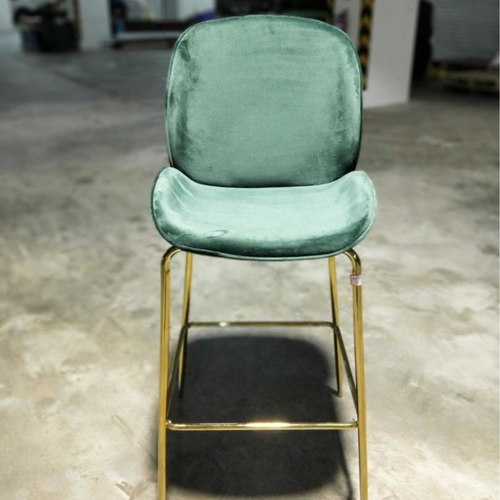 VOLKZ Bar Chair with Gold Frame in EMERALD GREEN