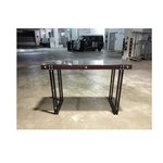 MUSO Console Table in WALNUT with Glass Top