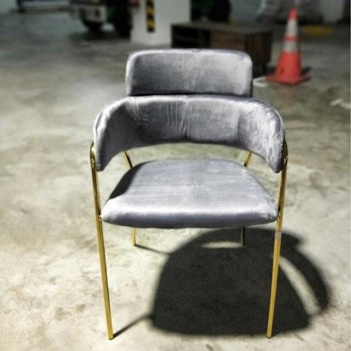 EMMEX Velvet Dining Chair in GREY