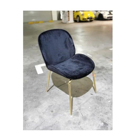 VOLKZ Chair in VELVET Black with GOLD Frame