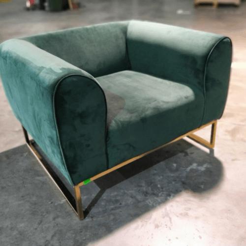 KUVA Armchair in Emerald Green