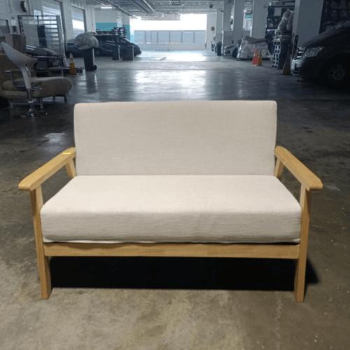 VANZ 2 Seater Sofa in BEIGE FABRIC