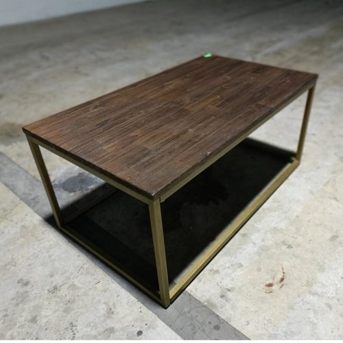 GASTAPO II Acacia Wood Coffee Table 95cm