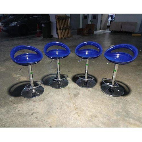 4 x SARON II Bar Stools in BLUE