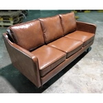 (PRE-ORDER) VALENTE Designer 3 Seater Modern Sofa in GLOSS BROWN PU - Estimated Delivery in Mid August 2021