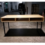 ALEICE Modern Industrial Solid Wood Study Table