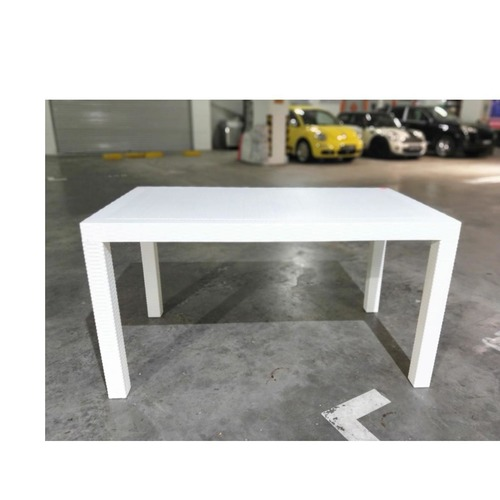LORRAINE II Outdoor Dining Table in WHITE