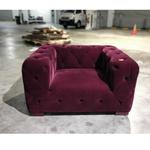 GARGOTA Single Seater Sofa in VELVET MAROON