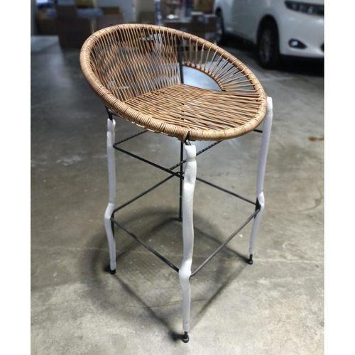 FARDIA WICKER Bar Chair