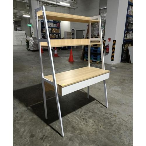 LUDA Study Table with Shelves