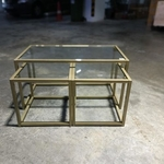 SLOVANI 3PC Nesting Coffee Table in MATTE GOLD