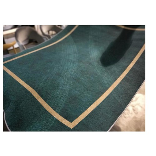 BERNICE II LUX Floor Rug in EMERALD GREEN