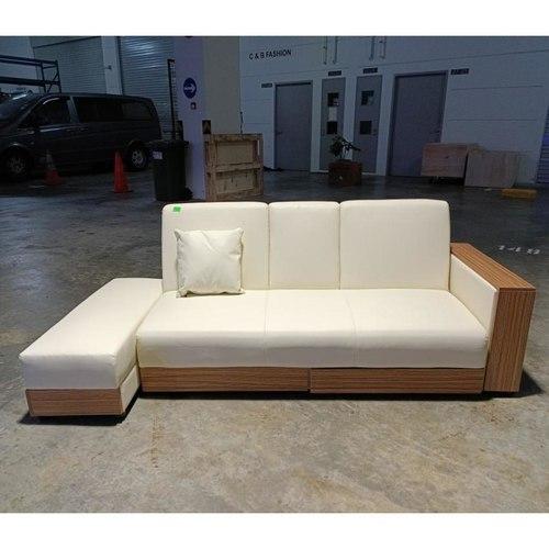 ARAI Storage Sofa Bed in PVC Cream