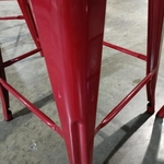 3 x DENVER Metal Counter Stools in RED