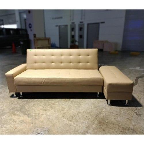 EVOCA Multi Storage Sofa Bed in BEIGE