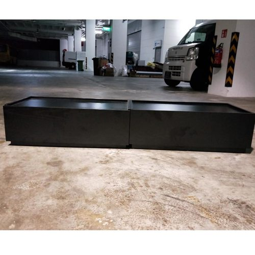 STRATE Stackable Low Profile TV Console in BLACK