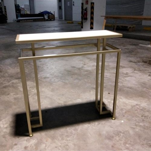 VOMEIL Classic White Marble Hallway Console