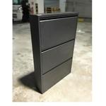 EKEN Ultra Slim Black Metal Shoe Cabinet