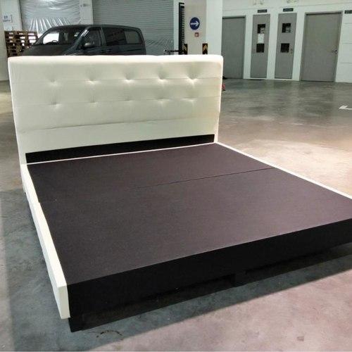 WAYNE King Size Bed Frame in CREAM PU