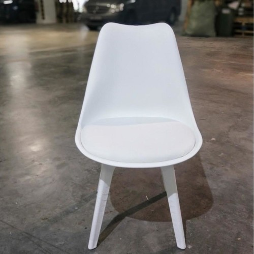 VARIS Designer Scandi Dining Chair in WHITE SET