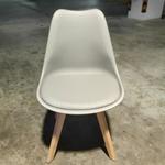 4 x VENZ Designer Chair in GREY with Wooden Frame SET