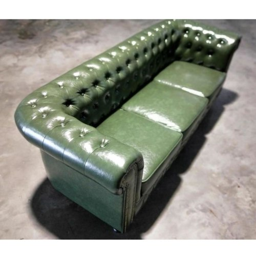 (PRE-ORDER) SALVADORE X 3 Seater Chesterfield Sofa in EMERALD GREEN PU - Estimated Delivery in Mid August 2021