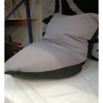 DOODLE Triangle Bean Bag in GREY