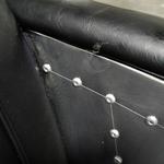 SPITFIRE 2 Seater Sofa in BLACK PU Leather in ALUMINUM SILVER