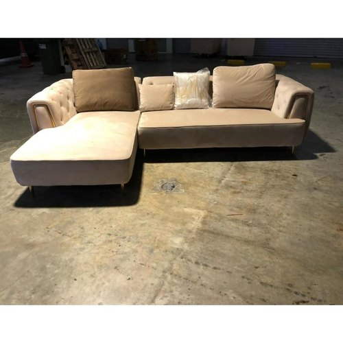 DENERRY L-Shaped Sofa with Rest Section on RIGHT when seated