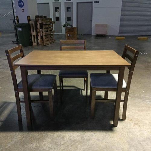 TITAN II Dining Set (3+1) in WALNUT