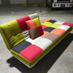 ANNABELLE patchwork Sofa Bed in RED MIX
