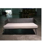 LORALE Wicker Patio Sofa