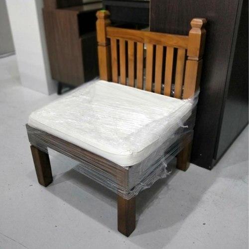 CAEN Teak Wood Single Seater Sofa