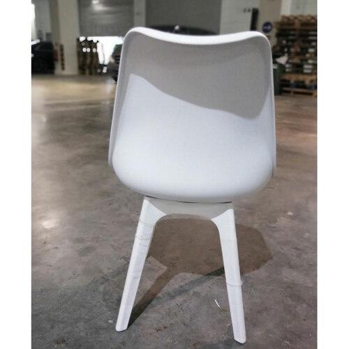 4 x VARIS Designer Scandi Dining Chair in WHITE SET